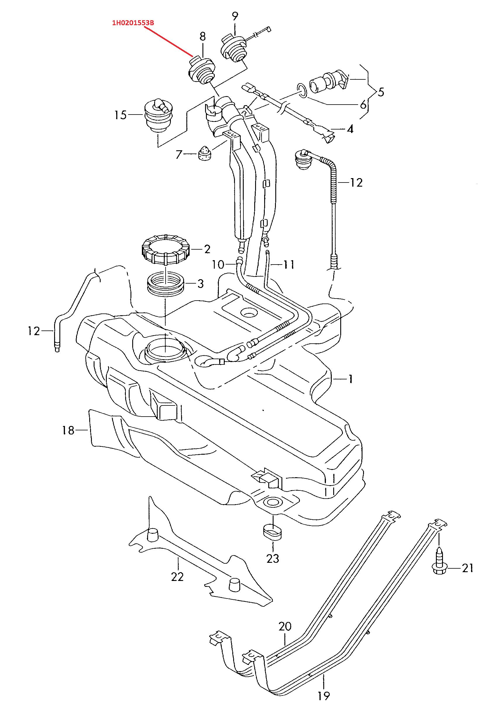 Tap U00f3n Tanque Gasolina Golf  Jetta 1988